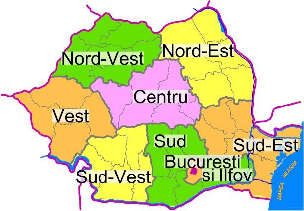 regiuni romania