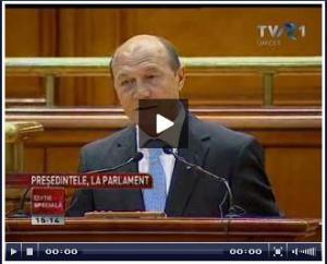 Raport Basescu in fata Parlamentului