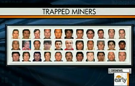 trapped miners - cbc image